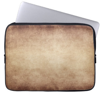 Vintage Parchment Antique Paper Background Custom Laptop Sleeve