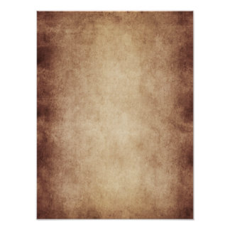 Vintage Parchment Antique Paper Background Custom Poster