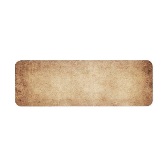 Vintage Parchment Antique Paper Background Custom Return Address Label