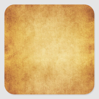 Vintage Parchment Antique Paper Background Custom Square Sticker