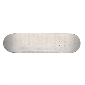 Vintage Parchment Antique Text Template Blank 18.1 Cm Old School Skateboard Deck