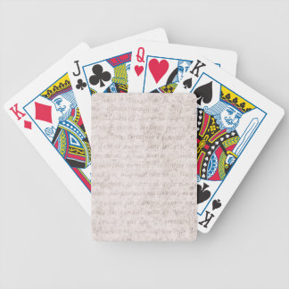 Vintage Parchment Antique Text Template Blank Bicycle Playing Cards