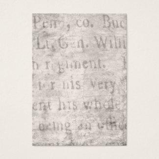 Vintage Parchment Antique Text Template Blank Business Card