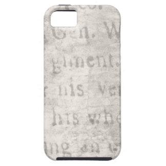 Vintage Parchment Antique Text Template Blank iPhone 5 Covers