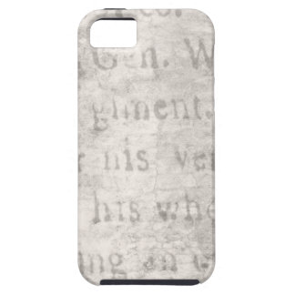 Vintage Parchment Antique Text Template Blank iPhone 5 Cases
