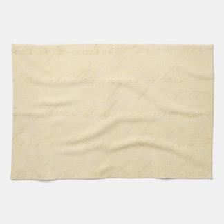 Vintage Parchment Antique Text Template Blank Tea Towel