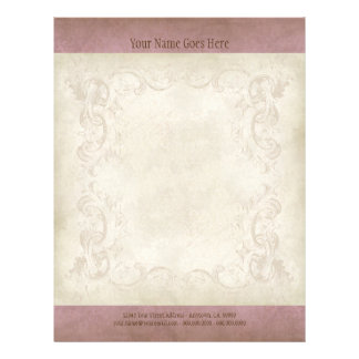 Vintage Parchment Look Letterhead Resume Paper