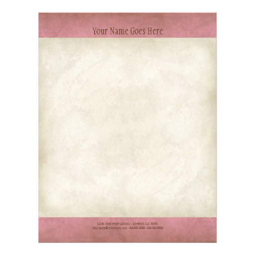Vintage Parchment Look Letterhead Resume Paper Full Color Flyer