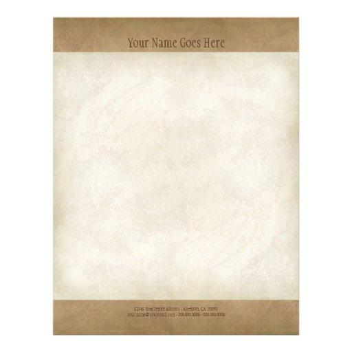 Vintage Parchment Look Letterhead Resume Paper Flyer