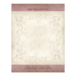 Vintage Parchment Look Letterhead Resume Paper Custom Flyer