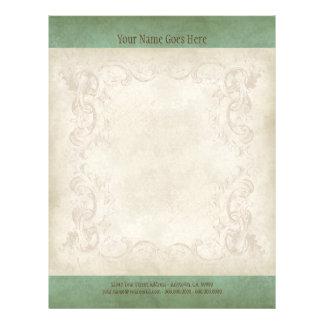 Vintage Parchment Look Letterhead Resume Paper Flyers