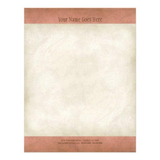 Vintage Parchment Look Letterhead Resume Paper Personalized Flyer