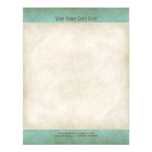 Vintage Parchment Look Letterhead Resume Paper Flyer Design