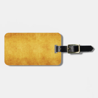 Vintage Parchment Orange Yellow Template Blank Luggage Tag