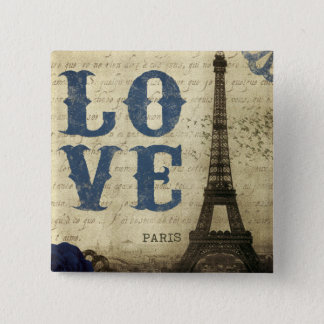 Vintage Paris 15 Cm Square Badge