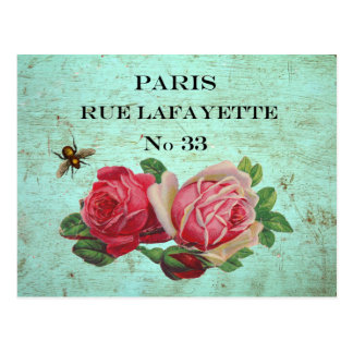 Vintage Paris Address Postcards