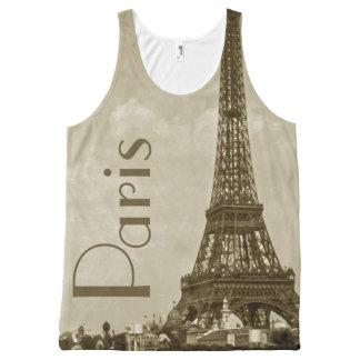 Vintage Paris All-Over Print Tank Top