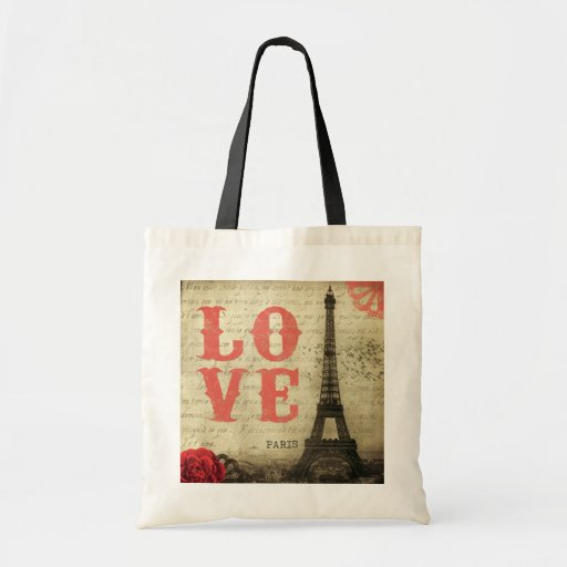 Vintage Paris Tote Bag