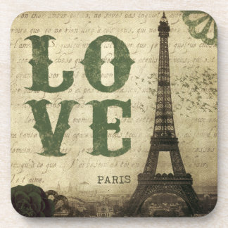 Vintage Paris Beverage Coaster