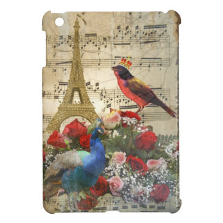 Vintage Paris & bird music sheet collage iPad Mini Cases