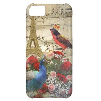 Vintage Paris & birds music sheet collage iPhone 5C Case
