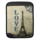 Vintage Paris | Blue iPad Sleeve