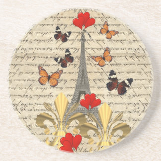 Vintage Paris & butterflies Coaster