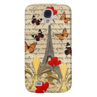 Vintage Paris & butterflies Galaxy S4 Case