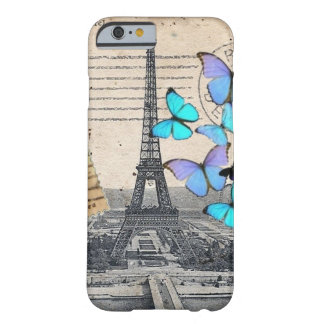 Vintage Paris Butterfly fashion iPhone 6 case Barely There iPhone 6 Case