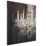 vintage paris chandelier barnwood