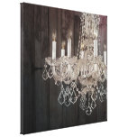 vintage paris chandelier barnwood gallery wrap canvas