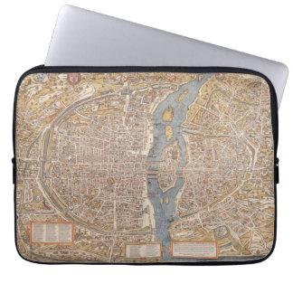 Vintage Paris city map, 1550 Laptop Sleeve