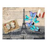 vintage  Paris Effiel Tower Butterfly  fashion