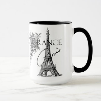 Vintage Paris Eiffel Tower coffee mug