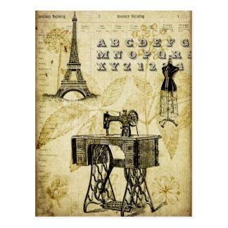 Vintage PARIS Eiffel Tower Dress form Postcard