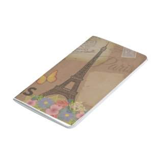 Vintage Paris Eiffel Tower Journal