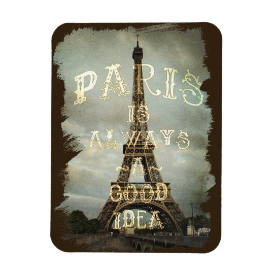 Vintage Paris Eiffel Tower Magnet