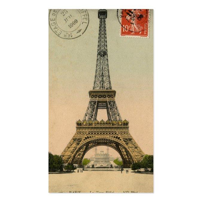 Vintage Paris Eiffel Tower Postcard Place Cards Business