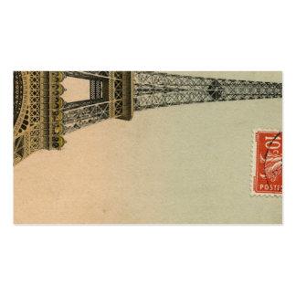 Vintage Paris Eiffel Tower Postcard Place Cards Business Card Template