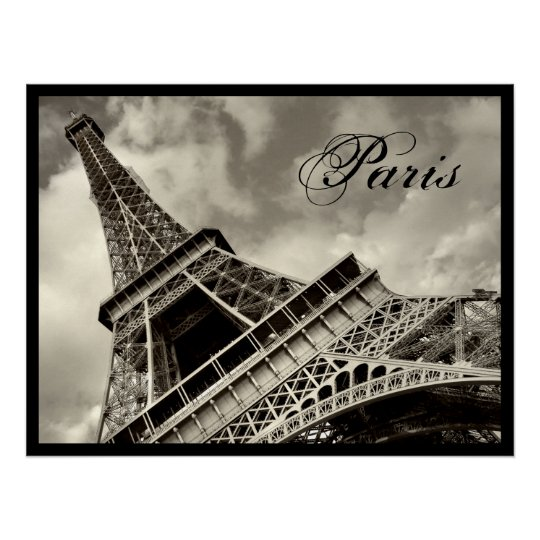 Vintage Paris - Eiffel Tower poster
