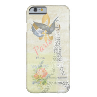 Vintage Paris Eiffel Tower Romantic Collage Barely There iPhone 6 Case