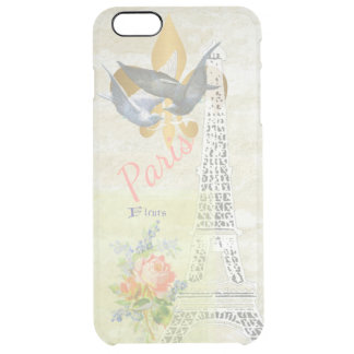 Vintage Paris Eiffel Tower Romantic Collage Clear iPhone 6 Plus Case
