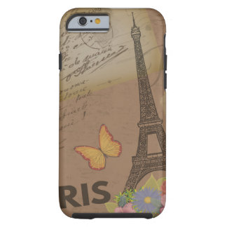 Vintage Paris Eiffel Tower Tough iPhone 6 Case