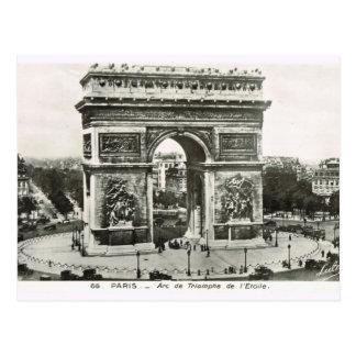Vintage Paris,Etoile, Arc de Triumphe Postcard