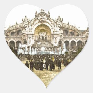Vintage Paris Exposition of 1900 Heart Sticker