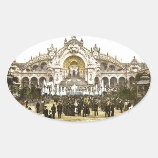 Vintage Paris Exposition of 1900 Oval Sticker