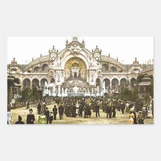 Vintage Paris Exposition of 1900 Rectangular Sticker