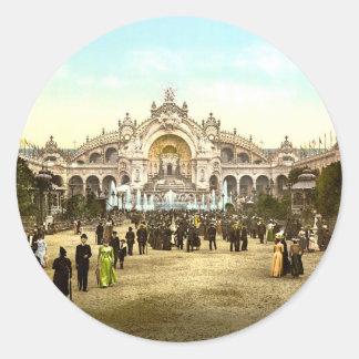 Vintage Paris Exposition of 1900 Round Sticker