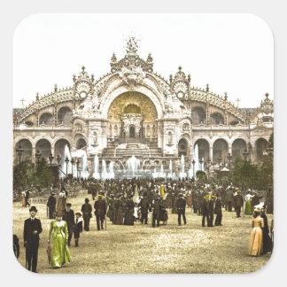 Vintage Paris Exposition of 1900 Square Sticker