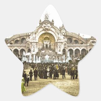 Vintage Paris Exposition of 1900 Star Sticker